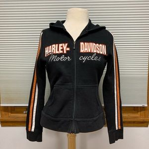 Harley-Davidson black zip up hooded sweatshirt